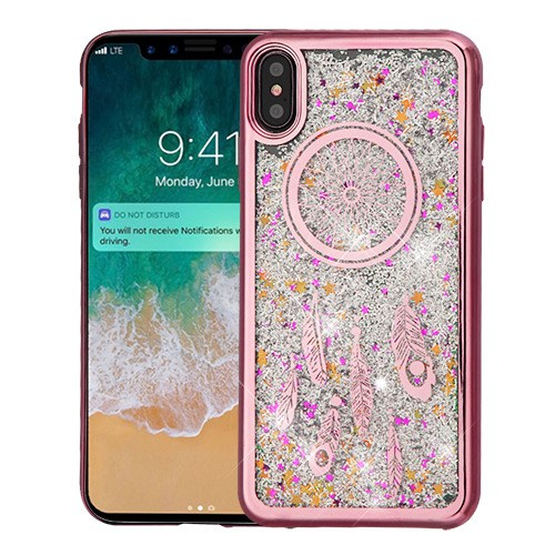 Apple Iphone Xs Max Rose Gold Electroplating Dreamcatcher Silver