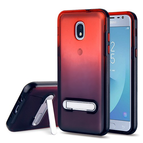 buy popular be282 7f21e Samsung Galaxy J3 Orbit - Black/Red and Black Hybrid Case Cover (with  Magnetic Metal Stand)