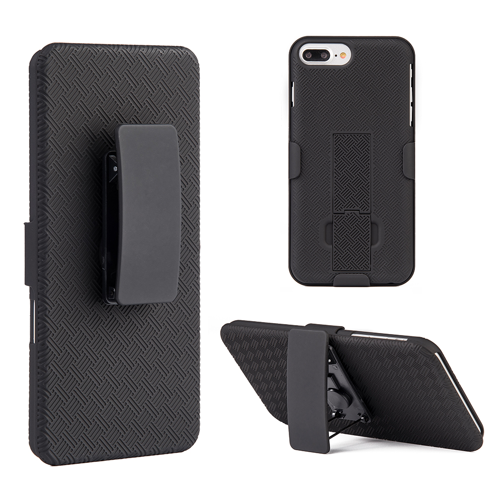 superior quality 36dae 5731c Apple Iphone 8 Plus - Snap On Case Skew Pc With Holster Combo Black