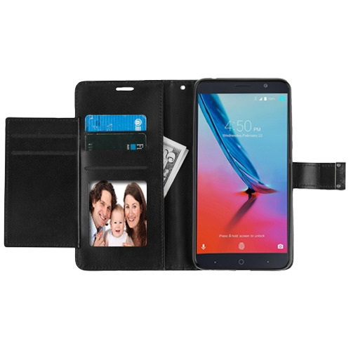 ZTE Blade Z Max Z982 Black/Black MyJacket Wallet Case