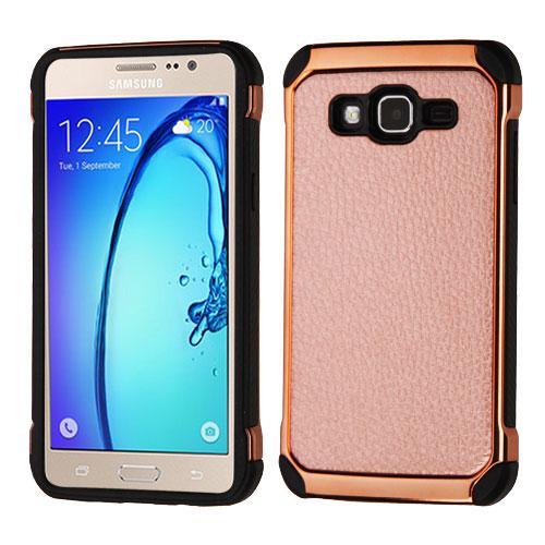 timeless design 581e8 476e1 Samsung Galaxy On5 G550 Rose Gold Lychee Grain Rose Gold Astronoot Case