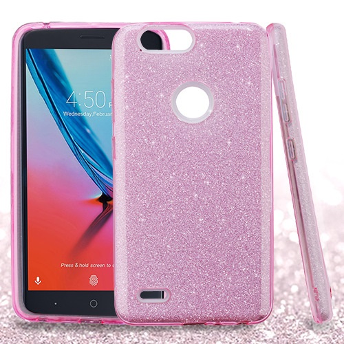 lowest price 326c1 c9546 ZTE Blade Z Max Z982 - Pink Full Glitter Hybrid Case Cover