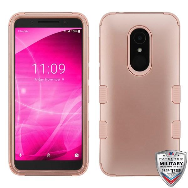 Alcatel T-Mobile Revvl 2 - Rose Gold/Rose Gold TUFF Hybrid Case Cover  [Military-Grade Certified]