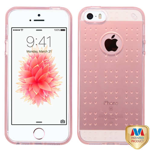 online retailer a648b 2c175 Apple iPhone 5S Glassy Rose Gold SPOTS Case Cover