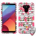 LG G6 H872 Roses/Electric Pink TUFF Hybrid Case [Military-Grade Certified]