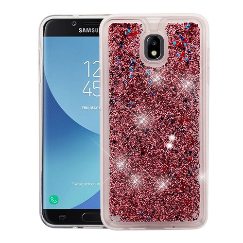 the latest 4033d fc75f Samsung Galaxy J7 Crown - Rose Gold Quicksand Glitter Hybrid Case Cover