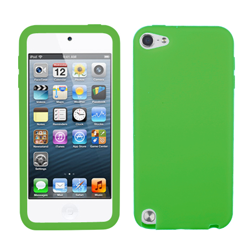 Solid Skin Case Cover 5th generation For Apple iPod touch Dr Green