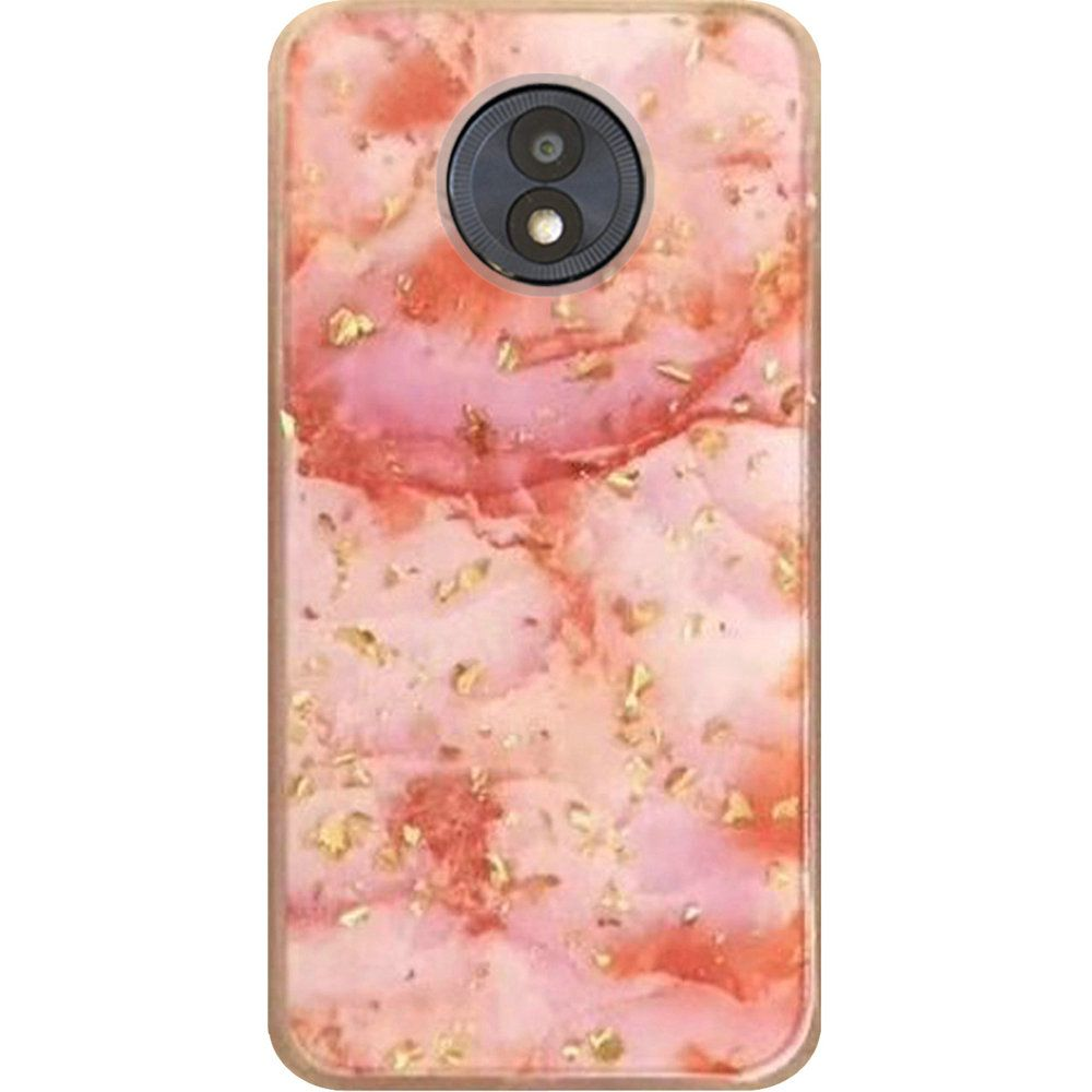 newest collection 5139a 61a4f Motorola Moto G6 Forge - Marble Glitter Cute Design Case Cover - Pink