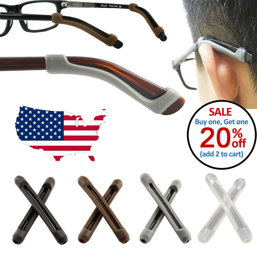 1 Pair Silicone Anti Slip Skid Ear Hook Pads for Eyeglasses Sunglasses Frame Health & Beauty