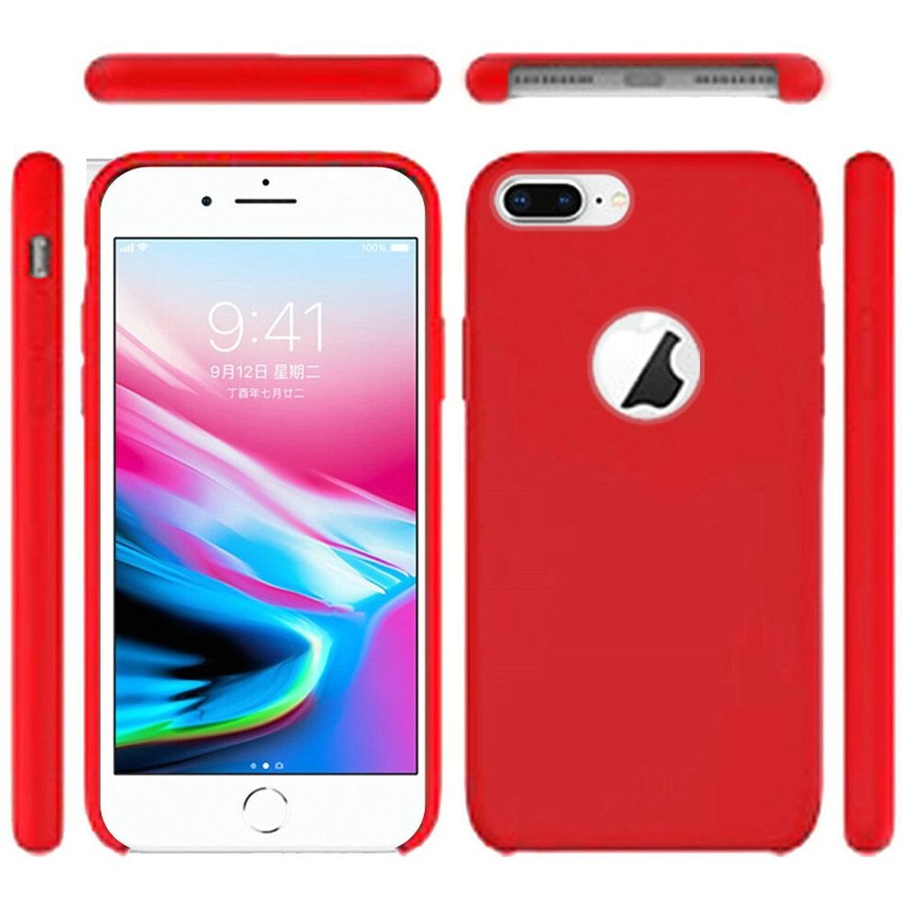 Series Soft Silicone Protective Cover Case Rose Red for Apple iPhone 6S Plus