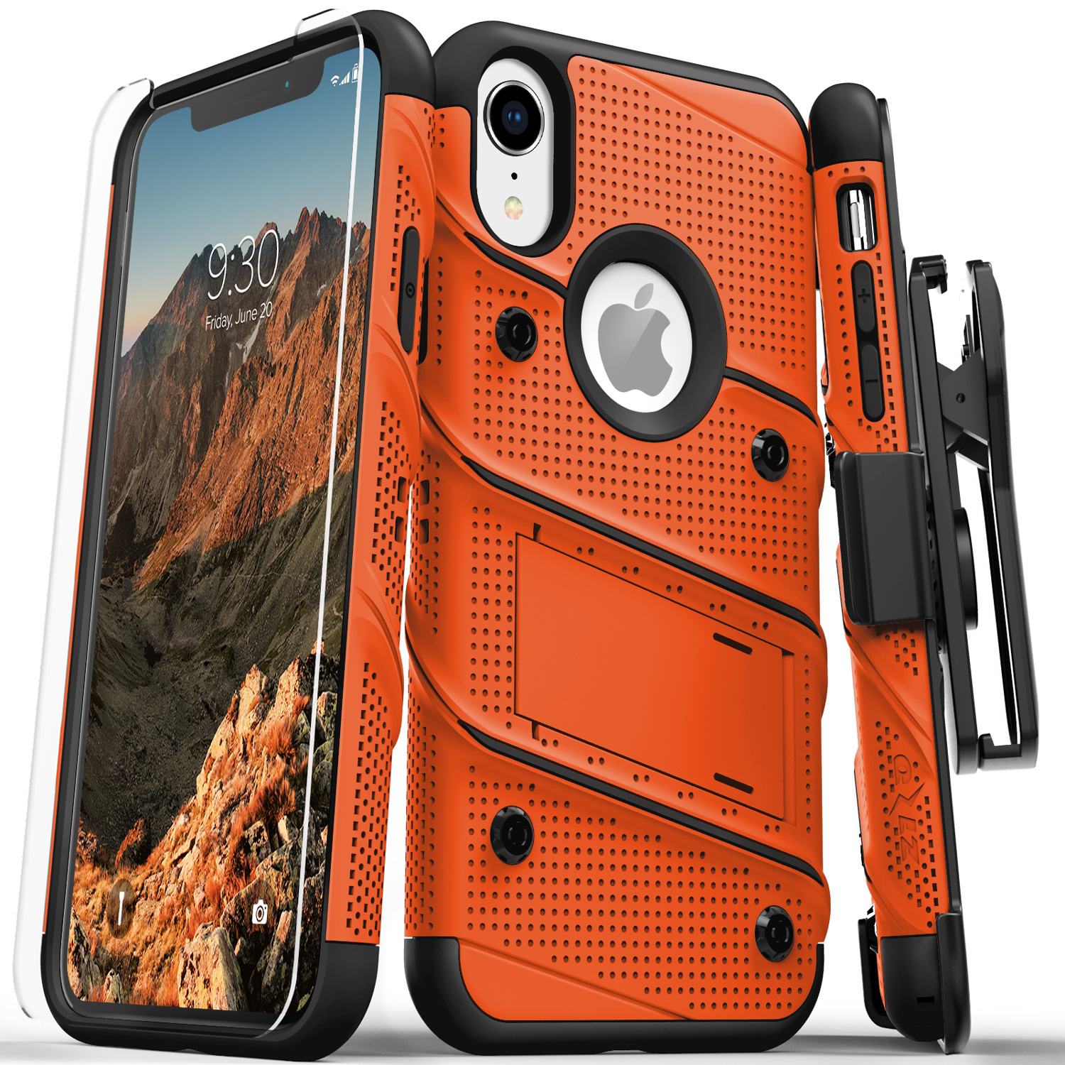 iphone xr case with glass screen protector