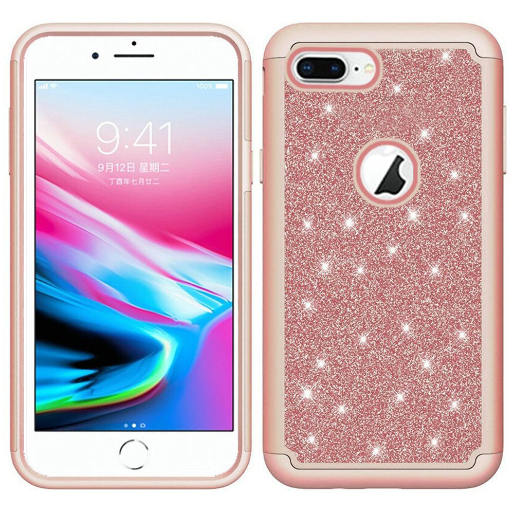 Apple Iphone 6s Plus Glitter Case Bling Diamond Tough Hybrid Rose Gold