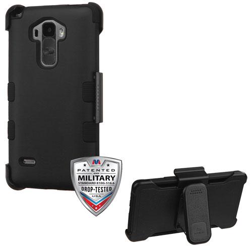 buy popular c0b10 d7d11 LG G Stylo LS770 G Vista 2 H740 Rubberized Black TUFF Hybrid Case Holster  (Military-Grade Certified)