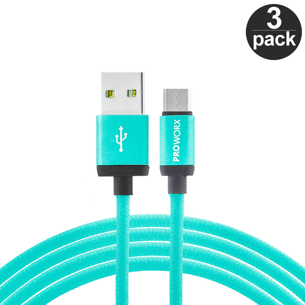 USB-Type-C-Cable-3FT-Charging-Charger-3-PACK-For-USB-C-Phones thumbnail 2