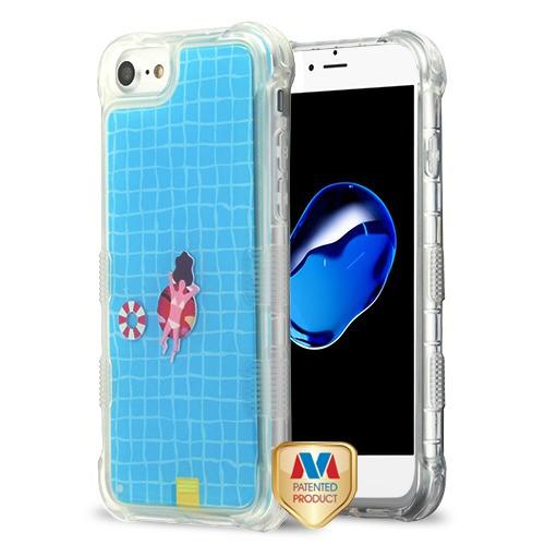 Apple iPhone 7 - Swimming Pool (Swimming Ring/Bikini Girl/Swimming  Ball)/Blue Oil TUFF AquaLava Hybrid Case Cover