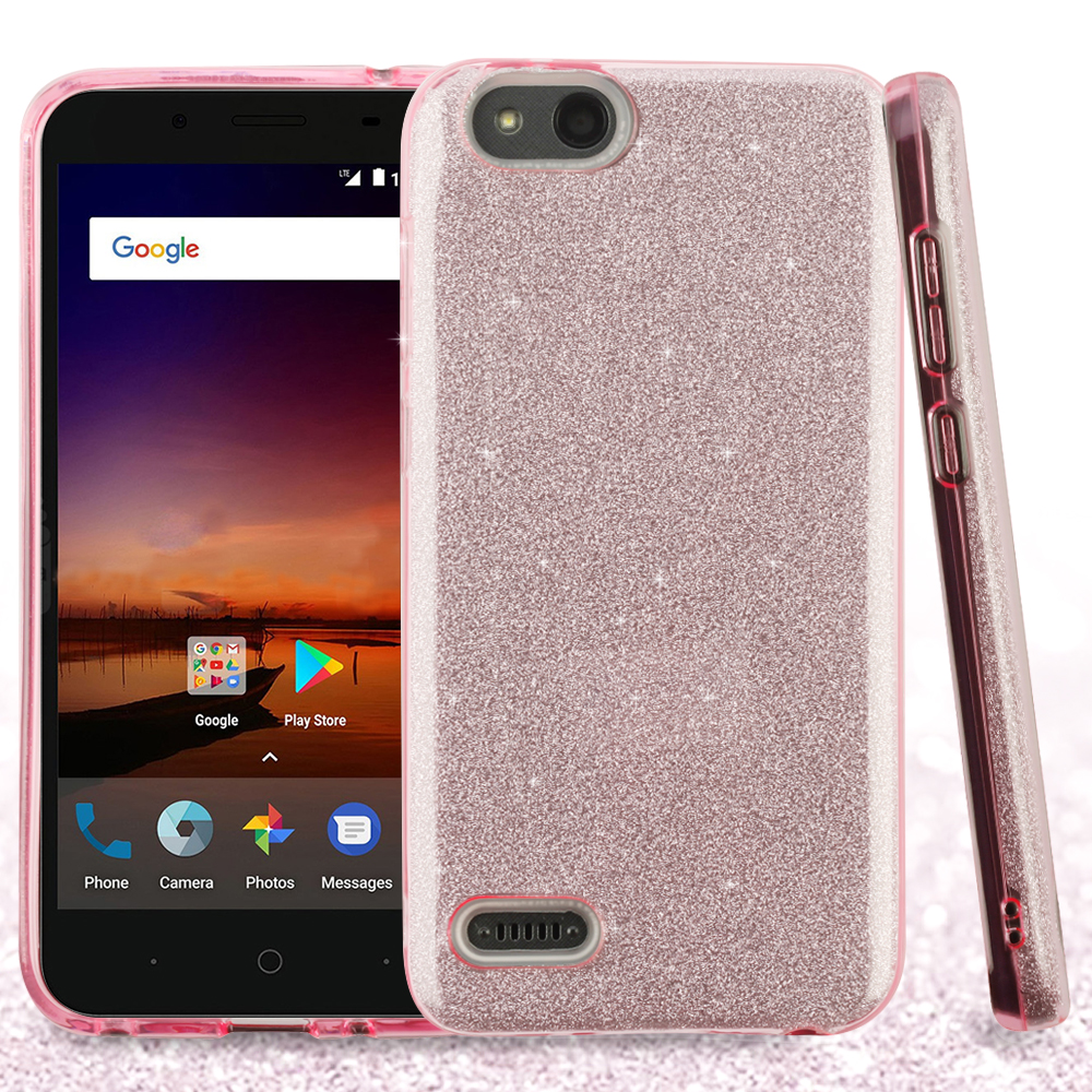 check out 64534 92a05 ZTE Blade Vantage Z839 Pink Full Glitter Hybrid Case Cover